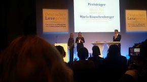Preisübergabe Deutscher Lesepreis 2017 an Maria Rauschenberger. (c) Maria Rauschenberger