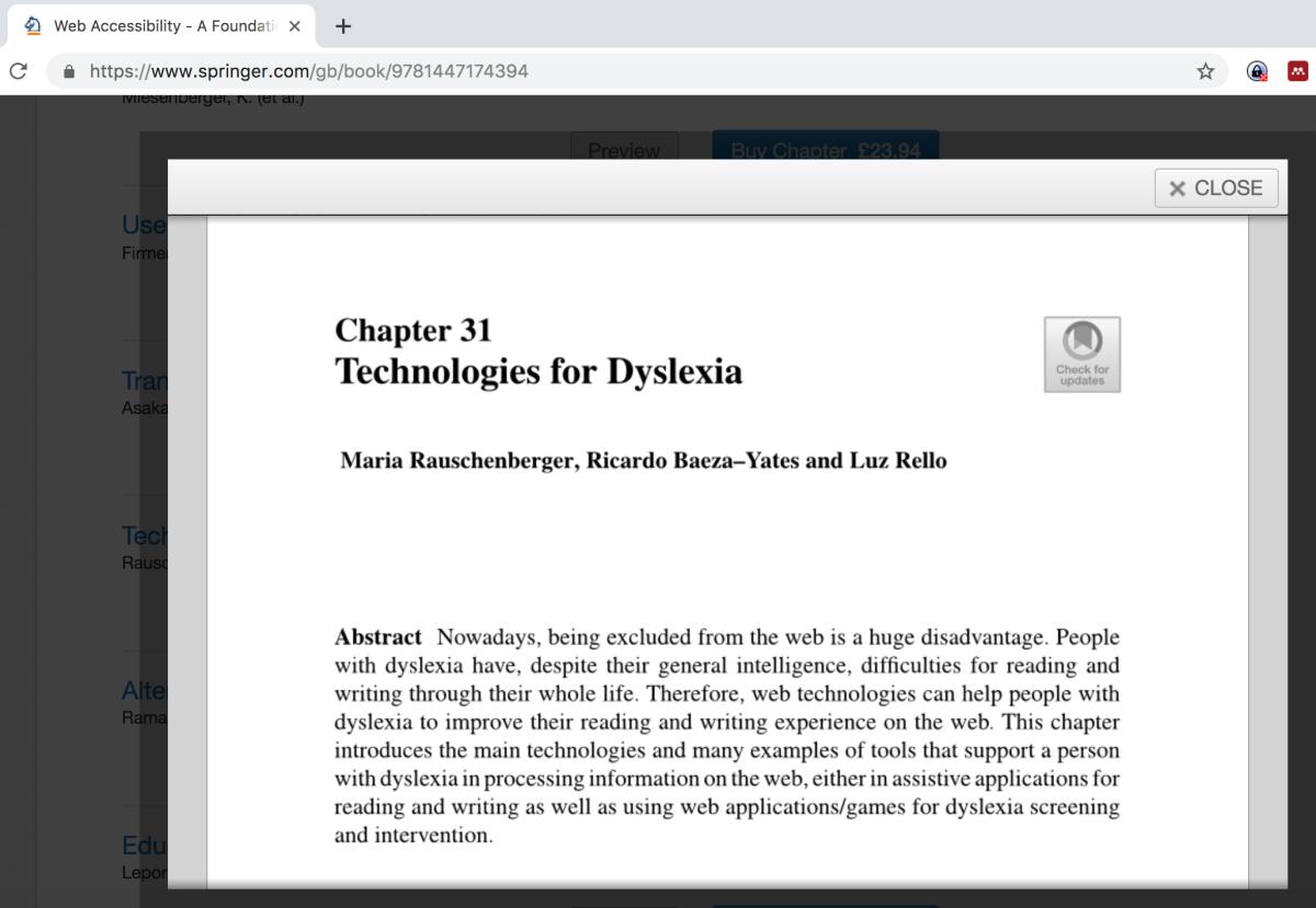 Technologien und die Lese-/Rechtschreibstörung
